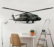 3d Military Helicopte A09 Car Wallpaper Mural Poster Transport Wall Stickers Zoe