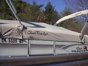 Suntracker Boat Cover P/n 179308 Party Barge 24 Rear Facingcharcoal 2015