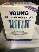 Young Dental Disposable Prophy Angles White Firm Webbed Cups 200/pack Ref131320
