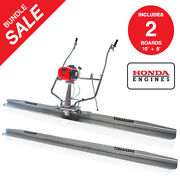 Power Screed Honda Gx35 12 Ft And 10 Ft Blades Bull Float Concrete Finishing Tool