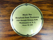 Vintage Advertising Music Bar Record Cleaner Pad Brush Washington Dc