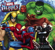 Marvel Heroes Comic Art 16 Month 2013 Wall Calendar Style 2 New Sealed