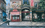Vogue Cafe Mark St. John Reproduction Oil Painting Wood Signed Framed 36 X 25