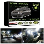 White Led Interior Lights Kit Package For 2016-2020 Toyota Sienna 3014 Smd +tool