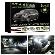 White Led Interior Lights Kit Package For 2011-2022 Toyota Sienna 3014 Smd +tool
