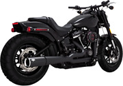 Vance And Hines Pro Pipe Exhaust For Harley Softail Models - Black - 47587