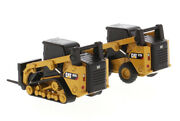 Caterpillar 272d2 Skid Steer Loaderand297d2 Compact Track Loader 1/64 Vehicle Toy