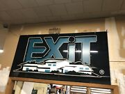 Neon Large Sign Exit Vintage Home House Reality Real Estate Office