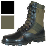 Vietnam Jungle Boots 8 Leather / Canvas Panama Sole Military Army Tactical