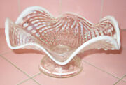 Eapg Northwood Nautilus Pattern Glass Shell Candy Dish White Oplalescent Dugan
