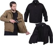 Tactical Concealed Carry Lightweight Jacket Ambidextrous Ccw Solid Coat