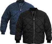 Classic Diamond Quilted Nylon Jacket Water Resistant High Quality Fashion Coat