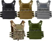 Tactical Plate Carrier Vest - Lightweight Military Army Molle Mag Assault System