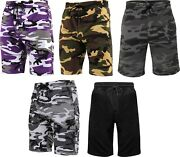 Mens Summer Sports Gym Lightweight Bdu Military Camo Sweat Shorts
