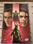 Loki And Magneto Exclusive Limited Print Ace Comic Con 2019 All Signed Jsa
