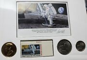 1969 Rare Plate Number Single Of First Man On The Moon Stamp Paul Calle Auto And