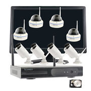 Business Cctv 1080p 8ch Wireless Ip Security Camera System Nvr H.265 Monitor Kit