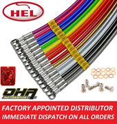 Hel Stainless Braided Brake And Clutch Lines For Suzuki Gsf Bandit 1200 2001-2005
