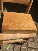 Antique 19th C Birds Eye Maple Box With Lowell Mass. Advertising Plaster Works