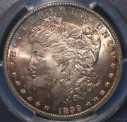 1899 1 Vam-6 Morgan Silver Dollar Pcgs Ms66 Vam-6 Open And Closed 9and039s Rainbows