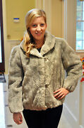 Vintage Faux Fur Ladies Coat Astraka Exclusively For Smithand039s Bermuda - England