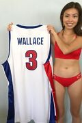Ben Wallace Detroit Pistons Authentic Adidas Game Model Stitched White 3 Jersey