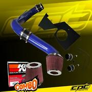 For 14-17 Vw Passat 1.8l 1.8t Turbo 4cyl Blue Cold Air Intake + Kandn Air Filter