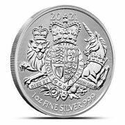 2021 Great Britain The Royal Arms - 1 Oz. 999 Pure Silver Coin - Bu - In Stock