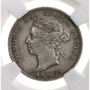 1892 Canada 25c Ngc Certified Au Details Cleaned