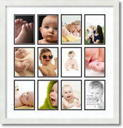 Arttoframes Collage Mat Picture Photo Frame 12 4x6 Openings In Satin White 228