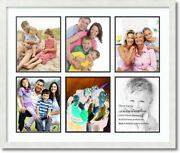 Arttoframes Collage Mat Picture Photo Frame 6 8x10 Openings In Black 1055