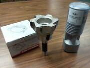 4 90 Degree Indexable Face Shell Mill, Face Milling Cutter Apkt W. R8 Arbor