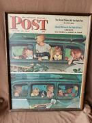 1947 Saturday Evening Post Norman Rockwell Advertising Poster - Going And Coming