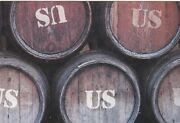 2003 Whiskey Or Beer Barrels Labeled Us Photo Russian Modern Postcard