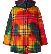 Nwt Sold Out Oversized Checked Cotton Down Jacket Rainbow It 48 Medium
