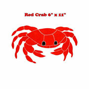 Crab Red Pool Mosaic Tile Bath Shower Wall Table Bar Table Counter Top Patio Art