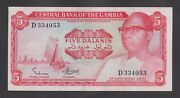 🔴gambia 5 Dalasis Nd1972-86 Au/unc P5a Signature 1 Very Rare D334053🔴