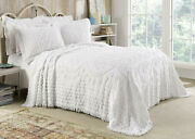 Kingston Tufted Floral Chenille Bedspread And Pillow Sham Set, All Cotton