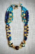 Antique Chinese Necklace Beads. Medieval Far East . 100 Original .rare.