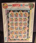 Mattel Beany And Cecil Match It Puzzle Tile Game 1961 Unused