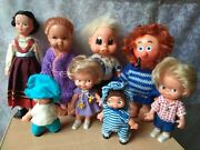 Rare Vintage Old Doll Rubber And Plastic Toy Set