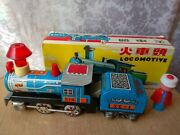 Rare Vintage Metal Toy Model China Old Train Locomotive Friction Powered