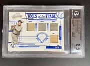 2005 Absolute Memorabilia Babe Ruth Quad Game Used Worn Jersey Pants Bat 19/20