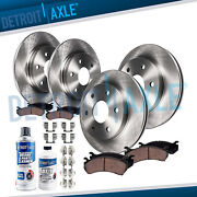 Front And Rear Brake Rotors + Brake Pads Chevy And Gmc Trucks 6-lugs Brakes