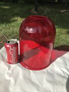 Vintage Globe Dome Oxblood Red Glass Round Shade