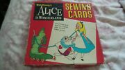 Vintage Alice In Wonderland 4 Sewing Cards For Children 1951 Usa Whitman Publish