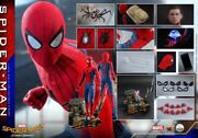 1/4 Hot Toys Qs014 Marvel Spider-man Homecoming Peter Parker Figure Collectible