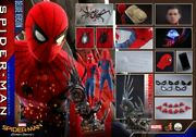 1/4 Hot Toys Qs015 Marvel Spider-man Homecoming Peter Parker Figure Collectible