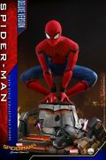 14 Hot Toys Marvel Spider-man Homecoming Peter Parker Qs015 Figure Deluxe Ver.