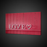 Love Sign Red Wooden Modern Design Canvas Print Wall Art Picture Photo